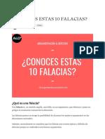 ¿CONOCES ESTAS 10 FALACIAS_ - Argumentación y Derecho - Medium