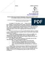 Media Release -Aspire Goal Workshop
