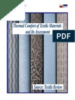 thermal comfort of textile materials