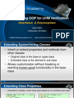 Course Systemverilog Oop for Uvm Verification Session2 Inheritance and Polymorphism Drich