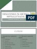 Hematomul si abcesul septului nazal