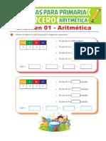 Examen-01-de-Aritmética-para-Tercero-de-Primaria
