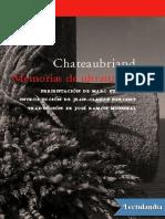 Memorias de ultratumba - Francois Rene de Chateaubriand