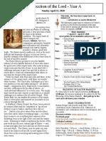 Easter Bulletin - April 12, 2020