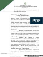Jurisprudencia 2017- Converset, Juan Manuel Clemente c E.N. s Proceso de Conocimiento