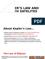 KEPLER'S LAW AND EARTH SATELITES