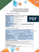 Guía de actividades y rúbrica de evaluación - Fase 3 - Comportamiento del productor