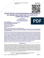 DESIGN MODEL SYSTEM MEASURING PERFORMANCE OF LABORATORY ASSISTANT AT FACULTY OF COMPUTER SCIENCE