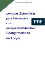 Enseñar Lenguas a Personas Con Discapacidad Auditiva