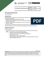 Service Bulletin Mazda 6 2002-2007