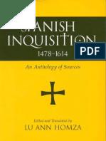 Spanish Inquisition, 1478-1614 Sources