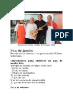 Pan de jamón de Wilmer Solorzano