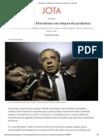 Libertarismo e liberalismo em tempos de pandemia - JOTA Info