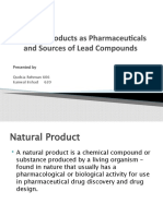 Natural  Products as Pharmaceuticals and Sources of Lead.pptx