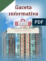 Gaceta Aeaeif Invierno 2019 - Primavera 2020 - Adelanto