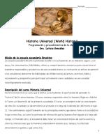 historia universal - programacion de la clase procedimientos y permiso para ver peliculas 2019-2020