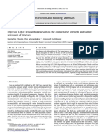 Effects of LOI of ground bagasse ash on the compressive strength and sulfate resistance of mortars.pdf
