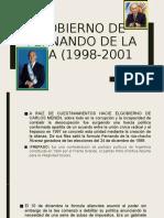 GOBIERNO DE FERNANDO DE LA RÚA (1998-2001