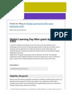 digital learning day minigrant application 2020