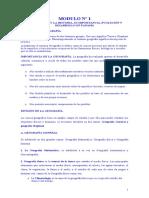 RESUMEN DE LOS MODULO Nº 1, 2 Y 3 Tópico de Geografía e Historia