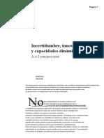 Incertidumbre, innovación y capacidades dinámicas_ una introducción