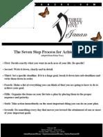 7 Step Goals Sheet
