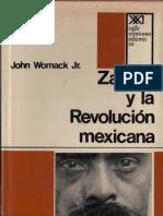 Womack Jr John. Zapata y la Revolución Mexicana.