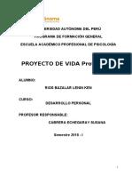 Proyecto de Vida Profesional ¡Trabajalo Con Paciencia!