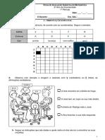 Matemática - Ficha Sumativa 2º Ano 1º Periodo