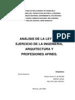 ANALISIS LEY DEL EJERCICIO DE LA INGENIERÍA