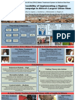 Assessing the Feasibility of Implementing a Hygiene Behavior-Change Campaign in Africa's Largest Urban Slum