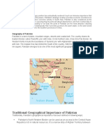 geographic importance of Pakistan