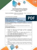 Guía de actividades y rúbrica de evaluación - Unidad 1- Etapa 2 - Análisis del entorno socioeconómico