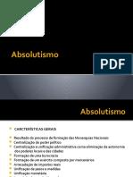A NATUREZA DE CLASSE DO ESTADO ABSOLUTISTA