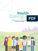 Graphics summary of findings - 7th Cycle of the EU Youth Dialogue (1)