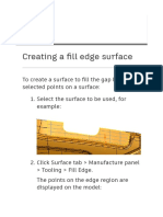 Powershape surface edge