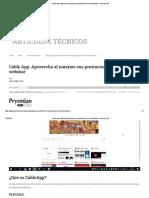 Cable App_ Aprovecha Al Máximo Sus Prestaciones Con Este Webinar - Prysmian Club