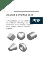 Powershape Primitive solid