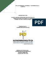 ESQUEMA LÓGICO DE LAS VARIABLES  INTERNAS  Y EXTERNAS DE LA OLÍMPICA