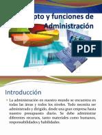 Concepto y funciones de Adm.