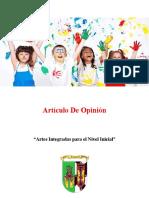 Artículo de opinión arte integrada