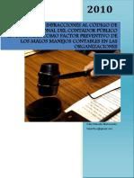 INFRACCIONES AL CÓDIGO DE ÉTICA PROFESIONAL DEL CONTADOR PÚBLICO