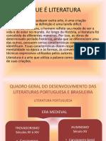 EVOLUÇÃO DA LITERATURA PORTUGUESA E BRASILEIRA