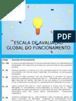 AUTISMO_CID_10_ESCALA DE AVALIAÇÃO GLOBAL DO FUNCIONAMENTO