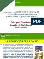 Promoción de la Salud en Colombia.