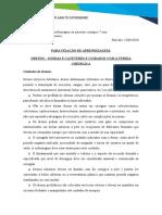 5 - Exercício fixação -DRENOS - SONDAS E CATETERES - PERGUNTAS