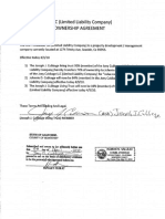 Amendment to Joey Cubbage LLC
