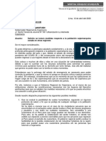 Oficio al Gobernador de Cajamarca
