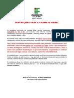 Edital IFMT.2019.075.CS.2020.1.Listagem 6ª Chamada Geral