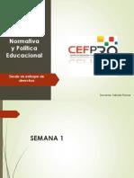 Normativas y Politica Educacional
